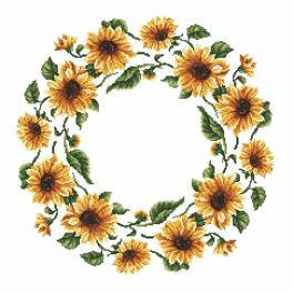 Cross stitch pattern - Napkin - Sunflowers