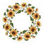 Cross stitch pattern - Napkin - Sunflowers