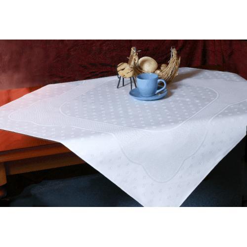 Tablecloth Land 90x90 cm white