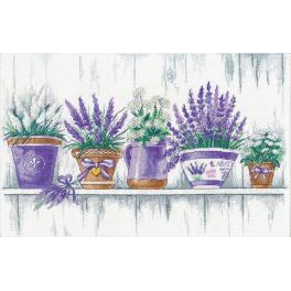 Cross stitch kit - Lavender tenderness