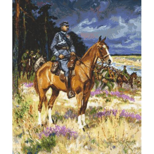 Cross Stitch pattern - Soldier on a horse
