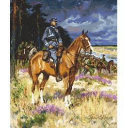 Z 8920 Cross stitch kit - Soldier on a horse