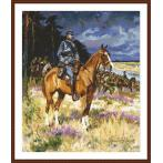 Cross stitch kit - Soldier on a horse