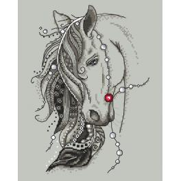 Cross Stitch pattern - Horse with a feather