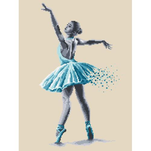 Cross stitch kit with beads - Ballet dancer - Sensual beauty