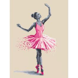Cross stitch kit with beads - Ballet dancer - Fleeting moments