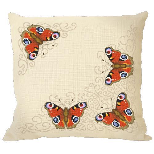 Cross stitch kit - Pillow with butterflies