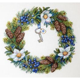 MER K-104 Cross stitch kit - Winter Wreatch