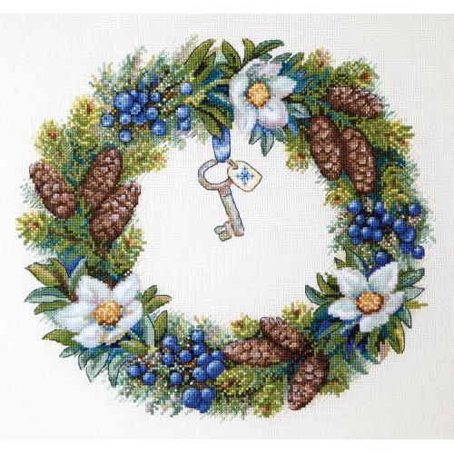 Cross stitch kit - Winter Wreatch