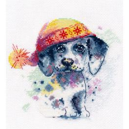 OV 1023 Cross stitch kit - A Cute Puppy