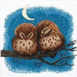 Cross stitch kit - Owlets