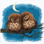 Cross stitch kit - Owlets