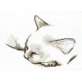 Cross stitch kit - Sleepy kitten