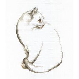 Cross stitch kit - Gray kitten