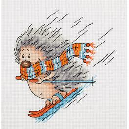 Cross stitch kit - Winter Hedgehog