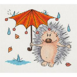 Cross stitch kit - Autumn Hedgehog