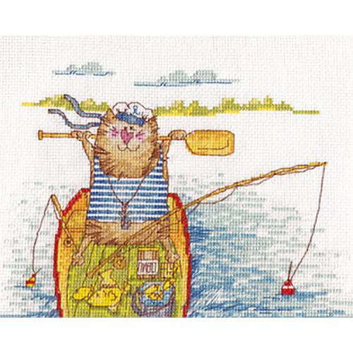 PAVK 1032 Cross stitch kit - Fishing Success