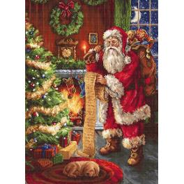 LS B578 Cross stitch kit - Santa Claus