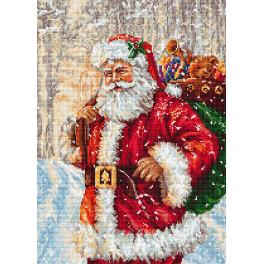LS B575 Cross stitch kit - Santa Claus