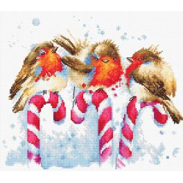 LS B1154 Cross stitch kit - Christmas Birds