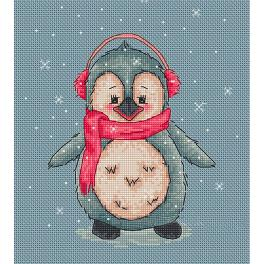 Cross stitch kit - Penguin Loly