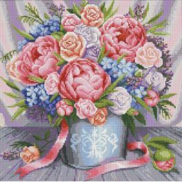 Diamond painting kit - Pink flowers