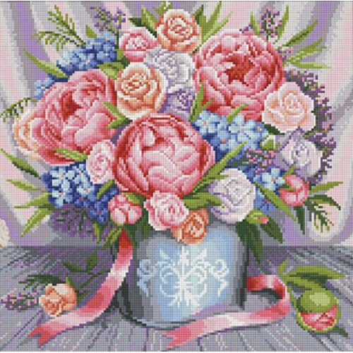 Diamond Painting Kit Pink Flowers
