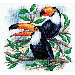 PAPT 779 Cross stitch kit - Toucans