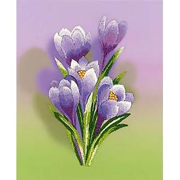 Cross stitch kit with beads - Crocuses