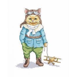 Cross stitch kit - Cat - pilot