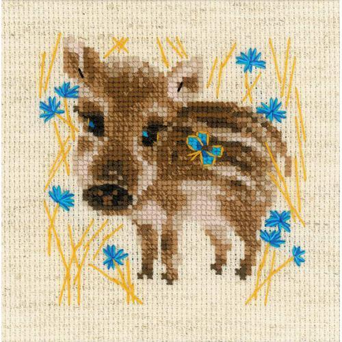 Kit with yarn - Little boar