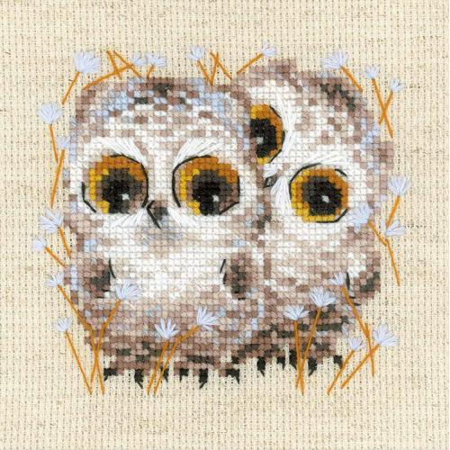 Kit with yarn - Little owls