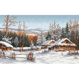 Tapestry canvas - A Winter Cottage - S. Sikora