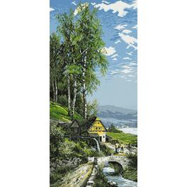 Tapestry canvas - Water-mill