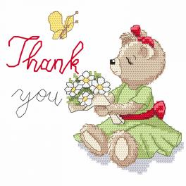 Cross stitch kit - Thank you
