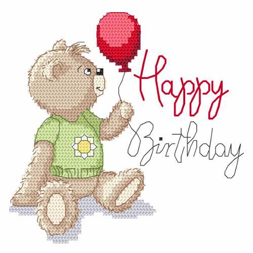 Cross stitch pattern - Happy birthday