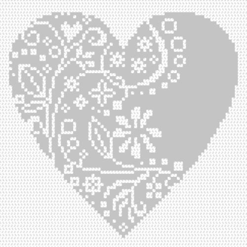 Graphic pattern - Openwork heart