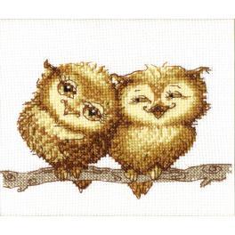 Cross stitch kit - Smal owlets
