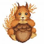 Cross stitch kit - Small squirrel