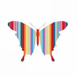 Cross stitch kit - Rainbow butterfly