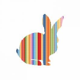 Cross stitch kit - Rainbow rabbit