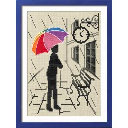 Kit with tapestry and frame - Colorful umbrella - Pending