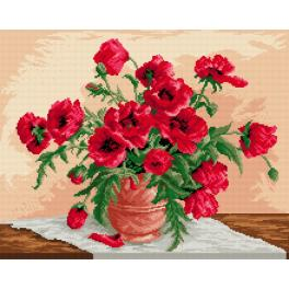 Tapestry canvas - Red poppies