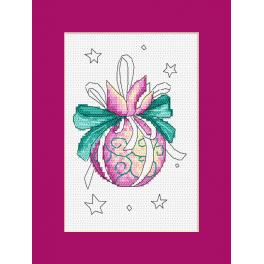 Cross stitch pattern - Card with a Christmas ball