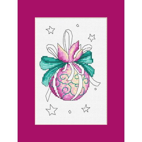 Cross stitch kit - Card with a Christmas ball