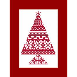 W 8870 Pattern online - Postcard - Ethnic Christmas tree