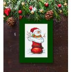 Cross stitch kit - Card with a snowman