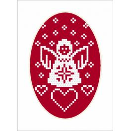 Cross Stitch pattern - Card - Angel