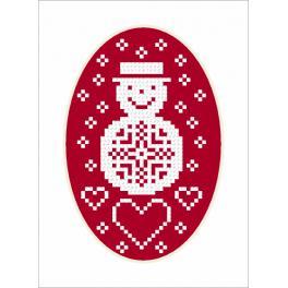 Pattern online - Card - Snowman