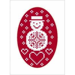 Cross Stitch pattern - Card - Snowman